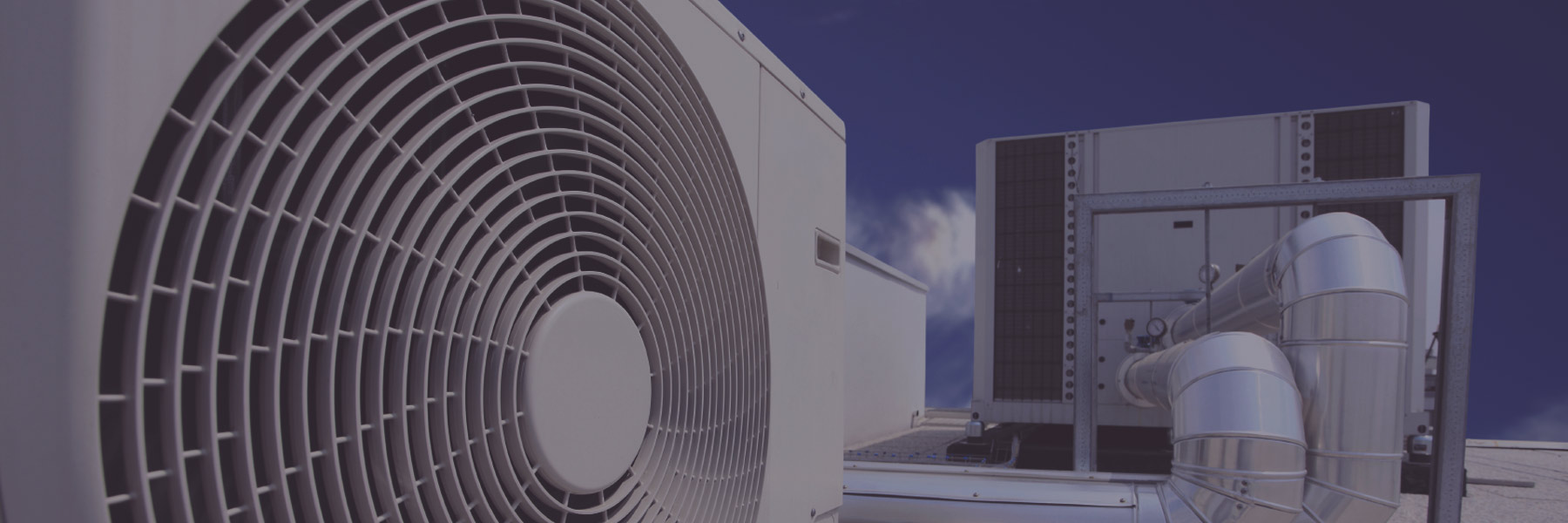 Air con and cleanroom extraction fans on a roof